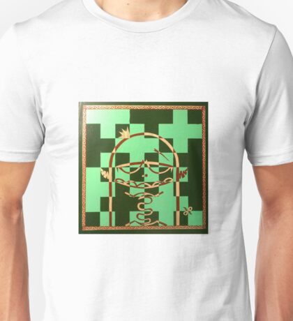 chess playing monster painted on a chess board Unisex T-Shirt