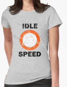 Idle Speed Nautical Signage Womens Fitted T-Shirt