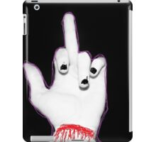 lame paint finger gremlin iPad Case/Skin