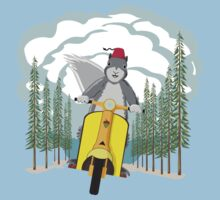 Squirrel on a Scooter Kids Tee