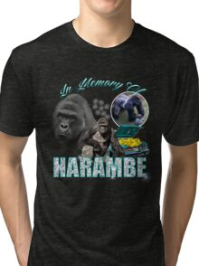 Harambe Tribute Shirt Tri-blend T-Shirt