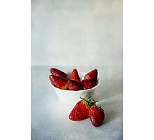 Red and sweet Photographic Print