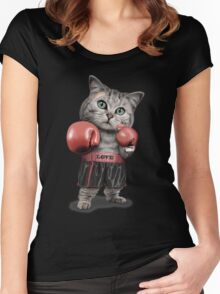 BOXING CAT Women's Fitted Scoop T-Shirt