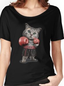 BOXING CAT Women's Relaxed Fit T-Shirt