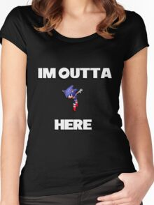 Sonic CD - I'm Outta Here! Women's Fitted Scoop T-Shirt
