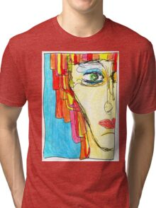 Demi-Face in Red Tri-blend T-Shirt