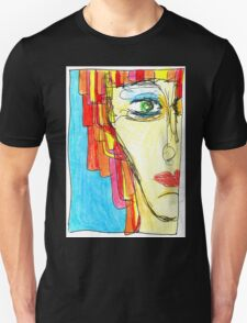 Demi-Face in Red Unisex T-Shirt