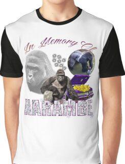 Harambe Tribute Shirt Purple Graphic T-Shirt