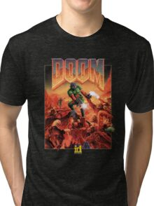 DOOM CLASSIC COVER Tri-blend T-Shirt