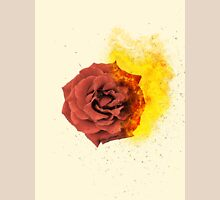 roses on fire Womens Fitted T-Shirt