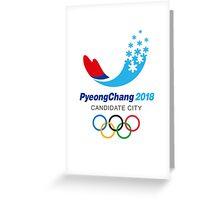 PyeongChang Winter 2018 Olympics T-Shirt Greeting Card
