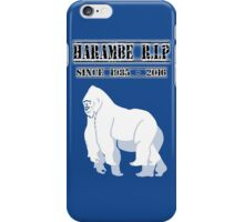 RIP harambe Since 1985 - 2016 iPhone Case/Skin