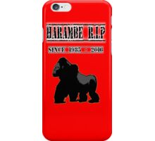 HARAMBE iPhone Case/Skin