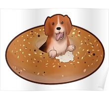 The Everything Bagel Beagle Poster