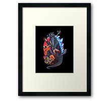 gojira vs heavy metal Framed Print
