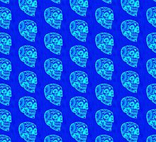 Dag Glo Blue Skull Pattern by Scott Mitchell