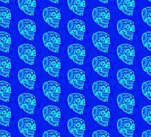 Dag Glo Blue Skull Pattern by Scott Mitchell