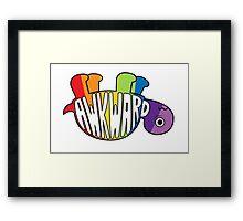 Awkward Turtle - RAINBOW Framed Print
