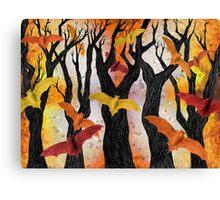 Bonfire Bats Canvas Print