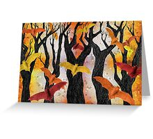 Bonfire Bats Greeting Card
