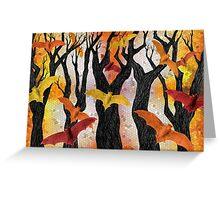 Bonfire Bats Greeting Card