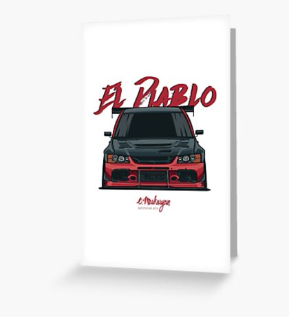 El Diablo (Evo IX) Greeting Card