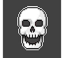 Pixel skull Photographic Print