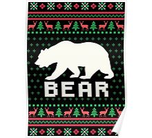 Bear Ugly Christmas Sweater Poster