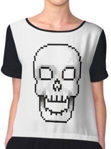 Pixel skull Chiffon Top