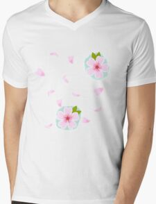 cherry blossoms on the wind Mens V-Neck T-Shirt