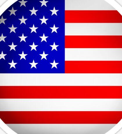 Round USA flag sign Sticker