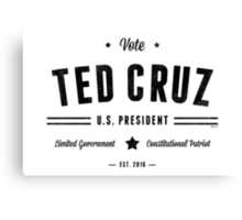 Vote Ted Cruz 2016 Canvas Print
