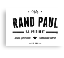 Vote Rand Paul 2016 Canvas Print