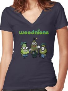 Stoned Weednions Women's Fitted V-Neck T-Shirt
