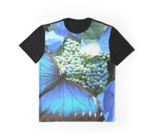 Pretty Blue Butterfly Graphic T-Shirt