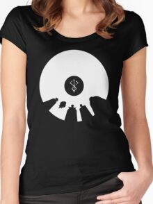 Berserk God Hand Griffith Void Slan anime Women's Fitted Scoop T-Shirt