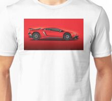 Red Aventador LP 750-4 Superveloce Unisex T-Shirt