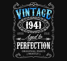 Vintage 1941 aged to perfection 75th birthday gift for men 1941 birthday Unisex T-Shirt