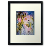 Pink are my Gum Blossoms Framed Print