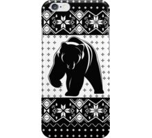 Grizzly Bear Ugly Christmas iPhone Case/Skin