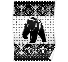 Grizzly Bear Ugly Christmas Poster