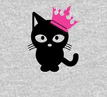 Black Queen Cat Womens Fitted T-Shirt