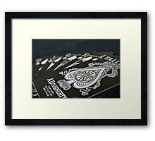Royal Flush in Silver Framed Print