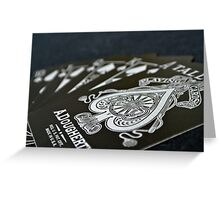 Royal Flush in Silver Greeting Card