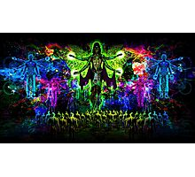 Rainbow Godess of Cosmic Life Photographic Print