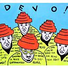 Are we not men! We are DEVO! -  Pop folk art  by krusefolkart