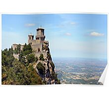 San Marino tower, landscape view. Poster