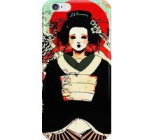 Geisha antique japan iPhone Case/Skin