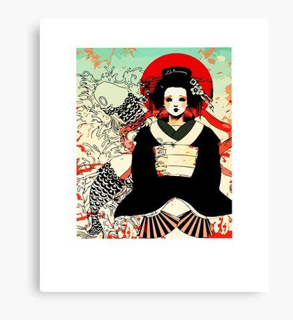 Geisha antique japan Canvas Print