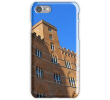 Building red brick facade from Piazza del Campo, Siena. iPhone Case/Skin